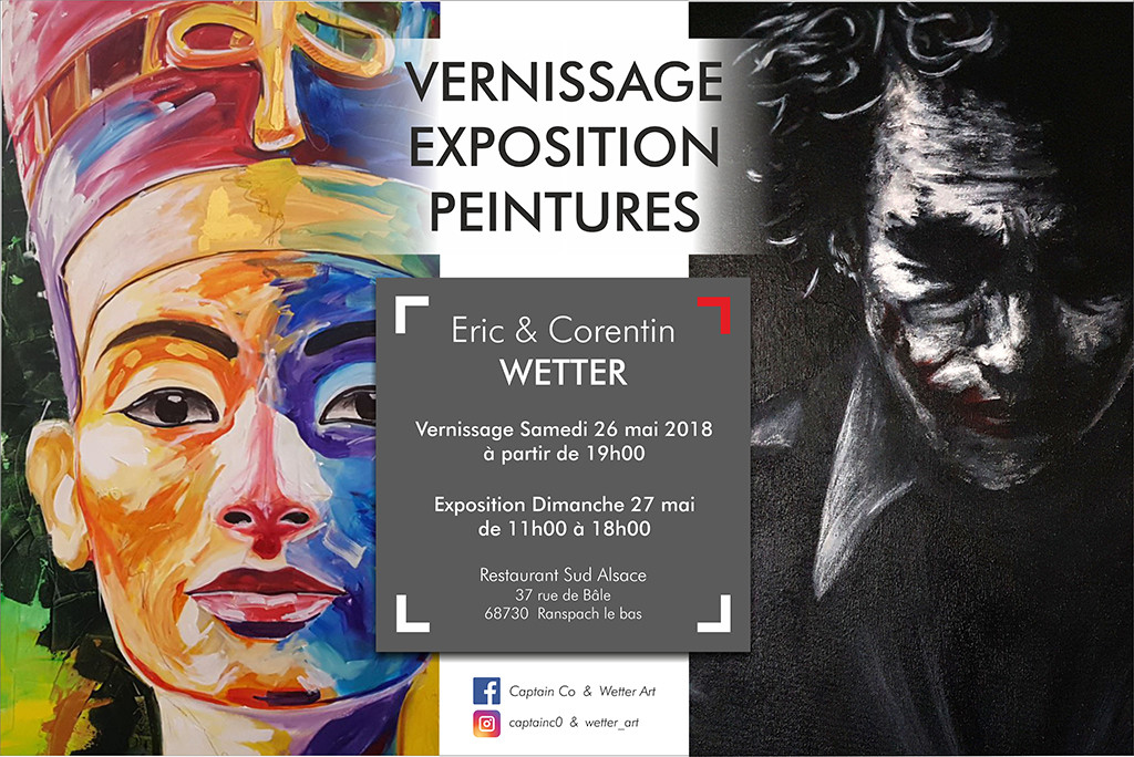 Affiche vernissage expo WETTER