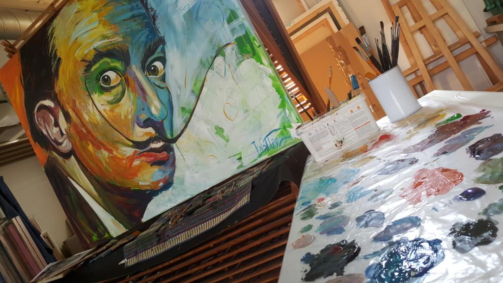 DALI - Peinture Acrylique 150/120cm - Eric Wetter ...
