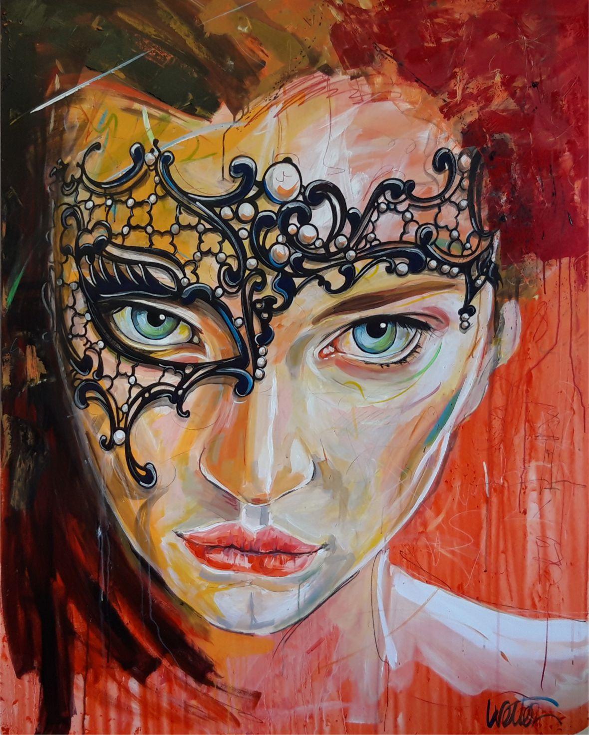 Nuit vénitienne - peinture acrylique 120x150cm